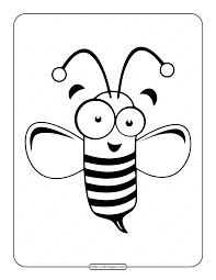 We have couple of more spring themed free printable coloring pages for kids and here are just a few i think little ones will like. Printable Cute Bee Coloring Page