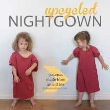 tshirt girl pajamas upcycle refashion free pattern