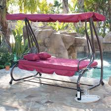 Porch Swing Bed Outdoor Canopy Swing Bed Patio Deck Garden Porch Seat Furniture