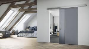 individual living situation shows the griffwerk glass sliding door satin grey in the version sliding door