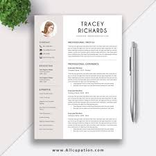 Modern Cv Sample Modern And Creative Resume Template Cv Sample Best Resume Design Editable Word Resume Cover Letter Instant Download Tracey
