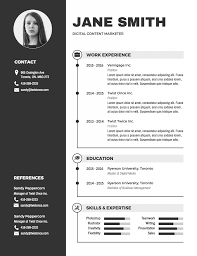 Resume With Picture Template Templates Download Professional In