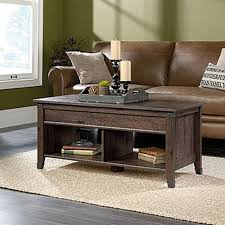 sauder carson forge coffee oak extendable coffee table