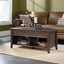 sauder carson forge coffee oak extendable coffee table