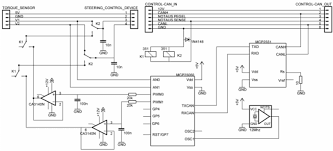 control circuit to interface electric power steering control circuit to interface electric power steering