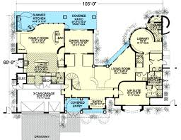 >mega mansion florida style 32233aa architectural designs  mega mansion florida style 32233aa floor plan main level