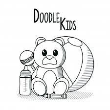 Doodle Cartoni Animati Per Bambini Scaricare Vettori Premium