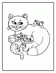 Sleeping cartoon cat coloring page. Kitty Cats Coloring Pages Coloring Home