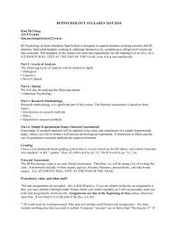 ib psychology syllabus