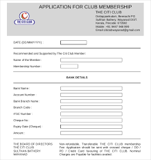 Club Membership Form Template 15 Sample Club Application Templates Pdf Doc Free Premium