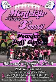 powder puff football flyers montclair bullodogs powder puff game oct 1 bloomfield nj news