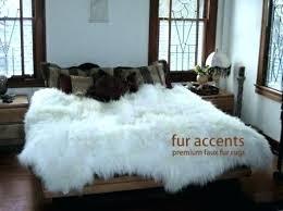 ikea faux fur rug faux fur rug premium faux fur sheepskin rug accent throw 7 new