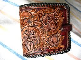 custom made a s fl hand tooled hand carved medium billfold wallet