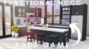 Base Game Kitchen Ideas No Cc Or Mods Sims 4 Building Tutorial Youtube