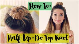 Topknot Hair Style how to half updo top knot zoella ad youtube 4925 by wearticles.com
