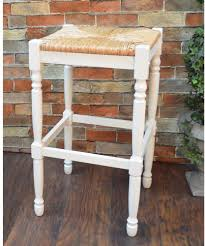 antique white contemporary styled bar stool comfortable rush seat 29 inches barstool antiquewhite
