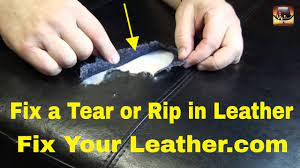 leather tear repair large tear in