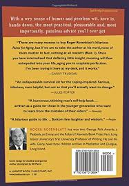 rules for aging a wry and witty guide to life roger rosenblatt  rules for aging a wry and witty guide to life roger rosenblatt 9780156013604 com books