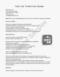 Date Of Availability Resume Sample Resume Samples Cath Lab Technician Resume Sample Lab Tech Resume 47