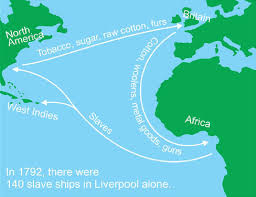 "images from ""main essay"" center  images from ""main essay"" the ""triangular trade"""