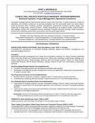 Typical Product Portfolio Manager Resume Gallery Of Project