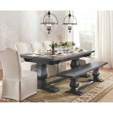 home decorators collection aldridge washed black extendable dining