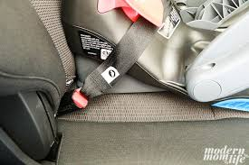 the attachment into the car s anchor hooks on both sides of the car seat base