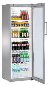 liebherr 388litre single glass door drinks fridge fkvsl 4113