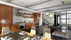 Beautifully Bold 3d Interior Kitchen Design View   Yantram