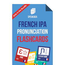 This helps in improving english pronunciation and feeling more. French Pronunciation Guide French Ipa Anki Flashcards Speakada