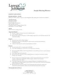Simple Minutes Of Meeting Sample Sample Of Minutes Of Meeting