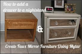 mirror night table. how to add a drawer nightstand \u0026 create faux mirror using mylar night table e