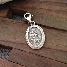 personalised sterling silver st christopher charm by hurleyburley