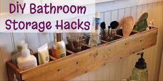 DIY Bathroom Storage and Organization Hacks Easy DIY Ideas from