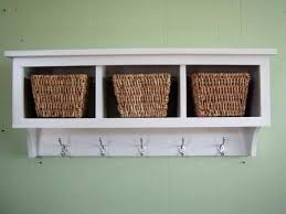 hooks style wall shelf with wire baskets epic