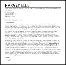 Cover Letter Livecareer Solution Architect Cover Letter Sample Livecareer Architecture