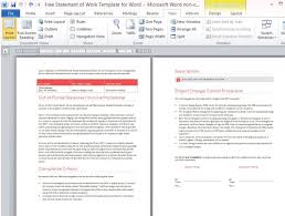 Sample Word Document Templates Free Statement Of Work Template For Word
