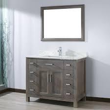 kelly 42 inch french gray finish bathroom vanity listvanities