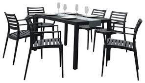 artemis 7 piece outdoor dining set dark gray