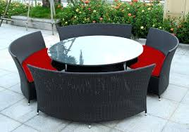 round wicker chair outdoor round outdoor dining table setting ideas furniture view larger wicker rattan outdoor furniture melbourne