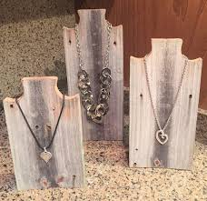 Wooden Jewelry Display Stands Adorable Necklace Display Stand In Weathered Wood Jewelry Display Etsy