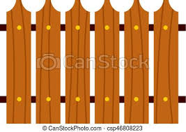 Wooden fence icon isolated Wooden fence icon flat isolated