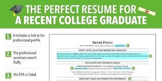 Recent College Graduate Resume