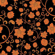 seamless vintage wallpaper pattern orange. Delighful Seamless Abstract Background With Flowers Fashion Seamless Pattern Vintage  Wallpaper Retro Fabric And Vector Wrapping Graphic Beautiful Leafs  On Seamless Vintage Wallpaper Pattern Orange Colourbox