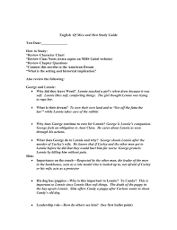 English 11 Of Mice And Men Study Guide