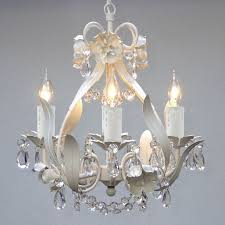 Small Bedroom Chandelier Crystal Ceiling Chandelier White Fixture 4 Light Pendant Small