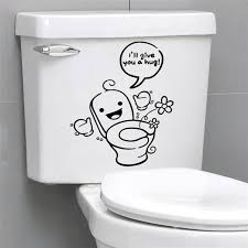 cartoon creative vinyl toilet wall decals i ll give you a hug quotes for bathroom on toilet wall art quotes with cartoon creative vinyl toilet wall decals i ll give you a hug quotes