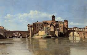 rome the island and bridge of san bartolomeo c 1826 1828 famous master
