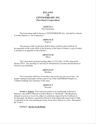 Bylaws Templates Bylaws Template For Corporation 24 Infantry 1