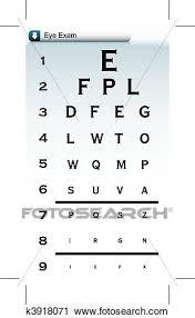 Eye Chart Clipart